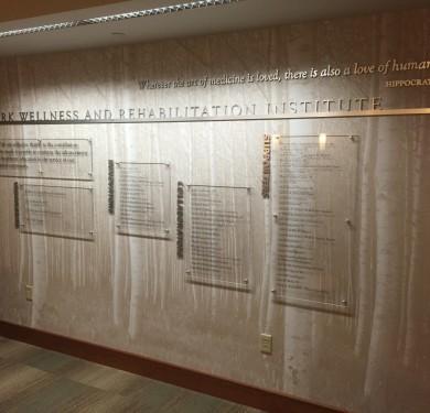 Donor Commemorative Display, Nazareth College