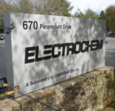 Electrochem Massachusetts, Pediment Branding