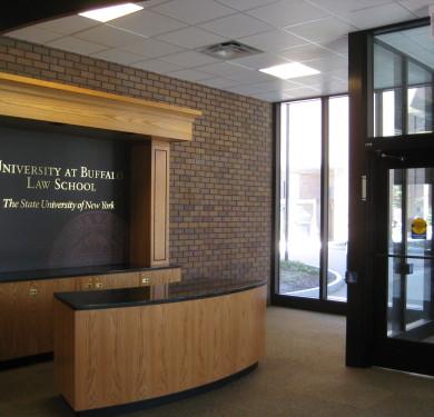 University at Buffalo Law School Lobby Branding