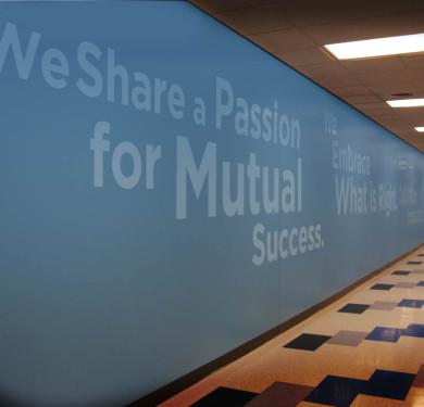 Brand Messaging Hallway, Greatbatch Hq.